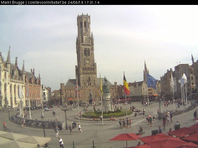 Bruges, Market square Live Cam, Belgium